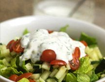 Goat Yogurt Ranch Dressing makes 1 cup  Ingredients: 1 cup goat's milk yogurt (or yogurt of choice) 2 Tablespoons fresh chives, finely chopped 1 Tablespoon fresh dill, finely chopped 1/2 teaspoon garlic powder (or 1 clove garlic, minced) 1/4 teaspoon sea salt 1/2 teaspoon Dijon mustard  Directions:  Combine all the ingredients in a small bowl, and whisk until well combined. Chill for 1 hour.