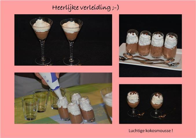 Kokosmousse - chocolademousse