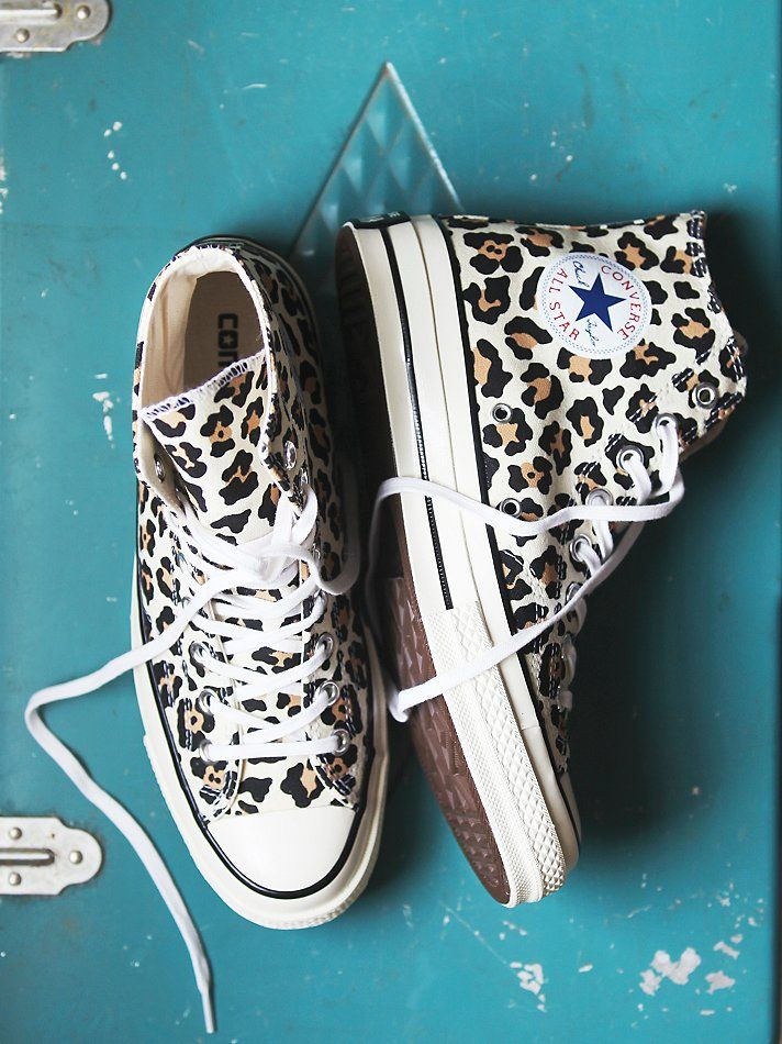 Free People Leopard Hi Top Chucks, £78.00