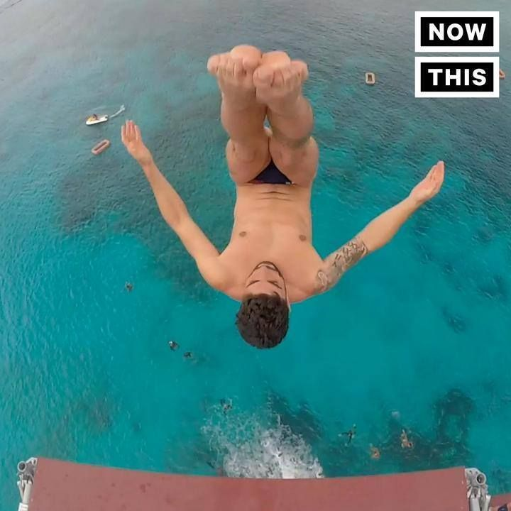 nice This guy's high dives are f*cking insane