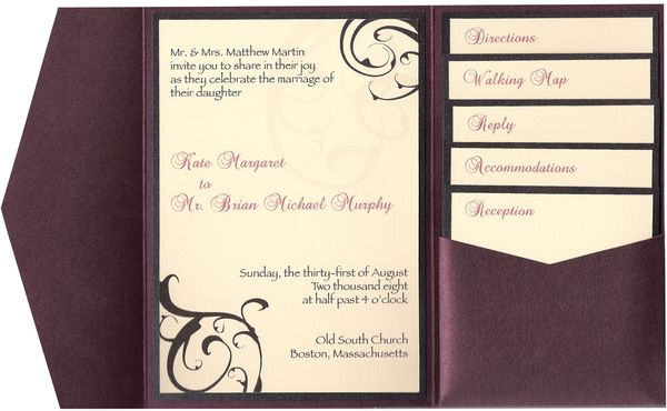 Wedding invitation inserts use some comely accessories and make your own wedding invitation 5
