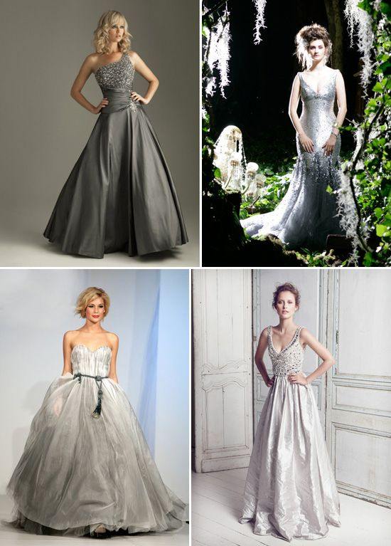 Silver Wedding Dress Ideas : The 25 best silver wedding gowns ideas on pinterest