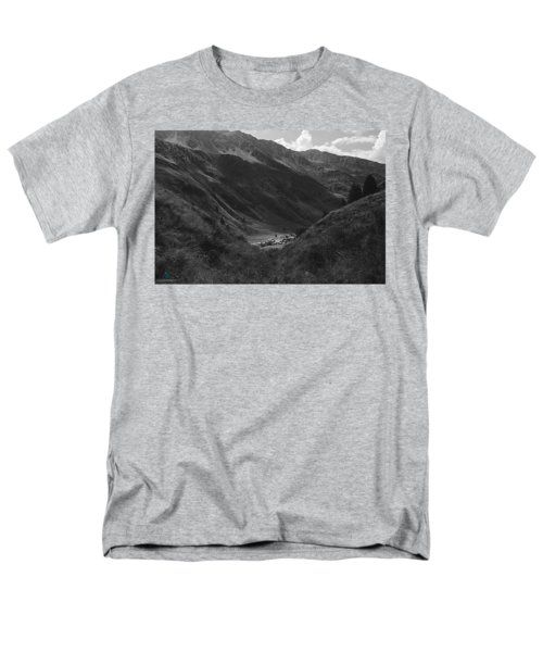 Hugged By The Mountains T-Shirt by Cesare Bargiggia