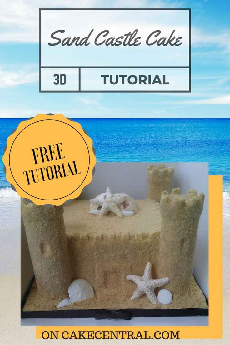 I just want to share how I constructed my sand castle cake List of Materials There are a few items you will need Step 1: Cut paper towel...