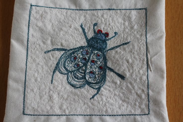 Free motion embroidery bug completed