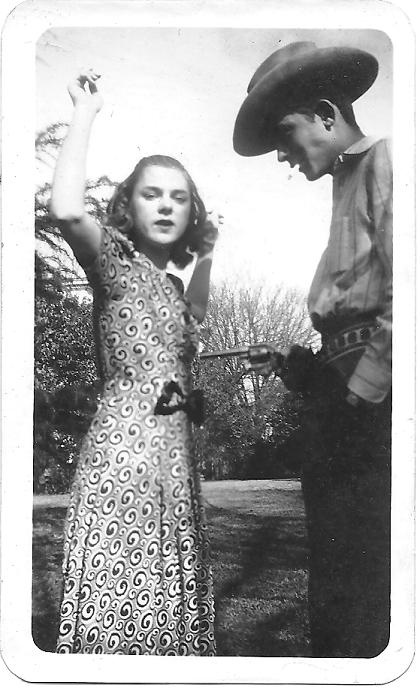 My Grandmother, Jean Williams Ray, with Hank Williams, Sr. in Montgomery, AL...my Grandma was about 15 years old, so this pic was taken around 1938 or so.  She and her friend would walk around the block to flirt with him and his band when they were practicing on a neighborhood porch. She was younger than him by a few months.