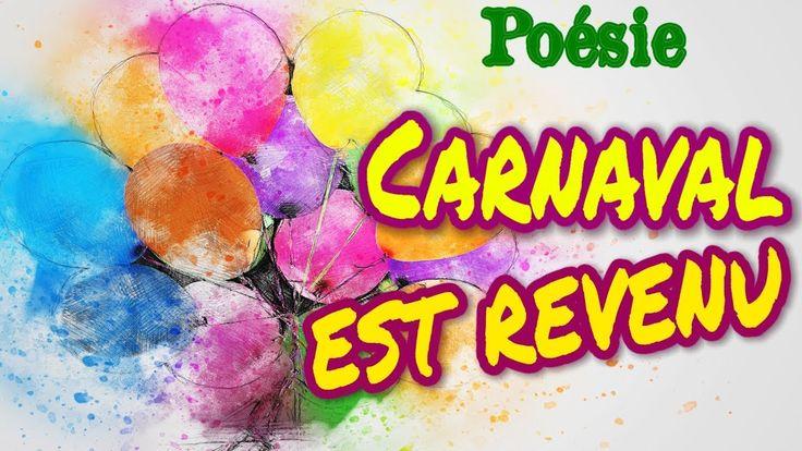 Poésie 🎈 Carnaval est revenu de Jean Naty-Boyer 🎈