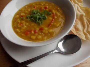 Smokey split pea soup.