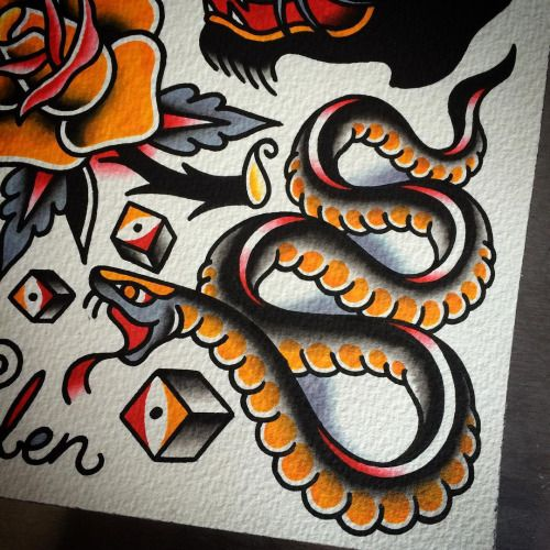 284 best images about Snake Tattoos on Pinterest | Around ...