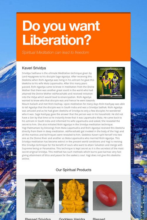 Do you want Liberation?