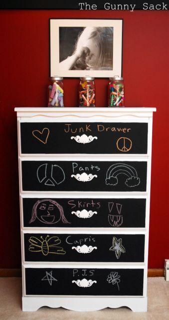 chalkboard paint dresser
