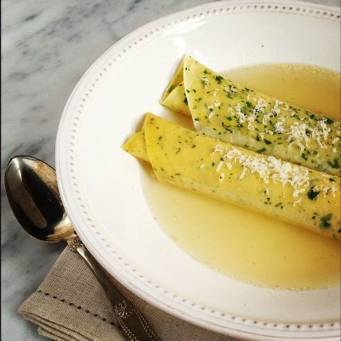 Crespelle in Brodo (Crepes in Broth) Recipe | Abruzzo: Food Lover's Paradise | BrowsingItaly.com