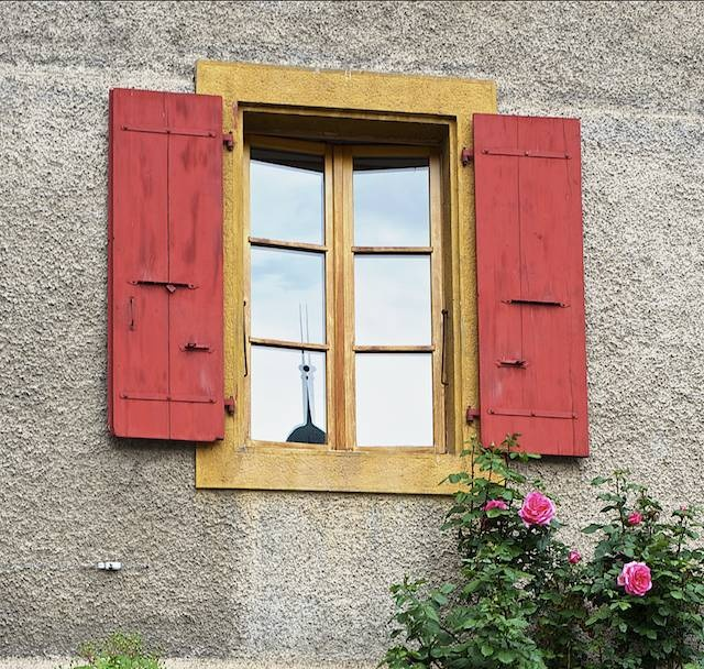 Red Rustic Shutters