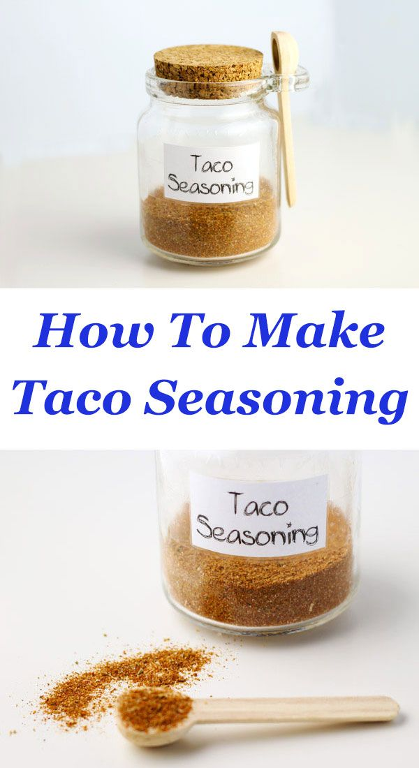How To Make Taco Seasoning with only 7 ingredients that you probably already have in your kitchen! This can be made with Organic spices and tastes so much better than store bought taco seasoning! | http://Tastefulventure.com