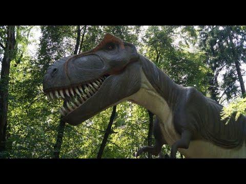 Dinosaur Park with moving dinosaurs Jurassic Park DinoZatorLand