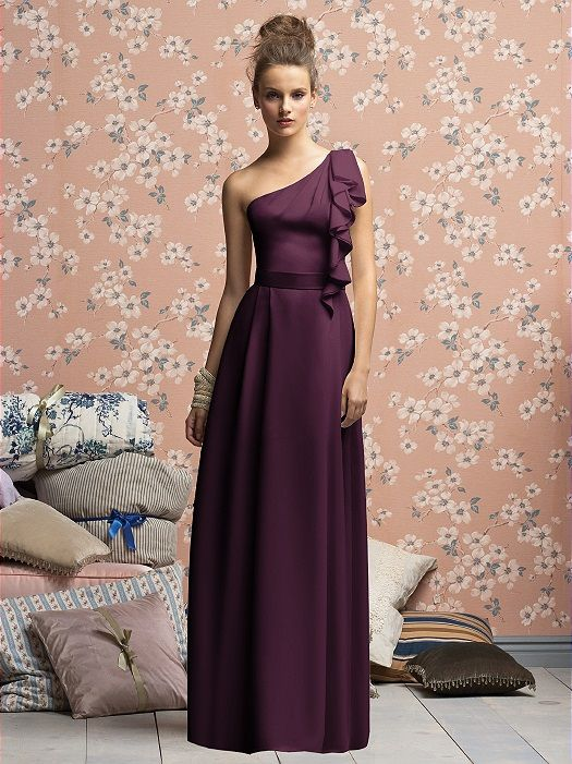 Lela Rose Bridesmaids Style LX141XX: The Dessy Group I like the eggplant color better!