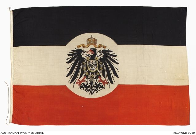 Imperial German flag : Lieutenant B Holmes, Australian Naval and Military Expeditionary Force