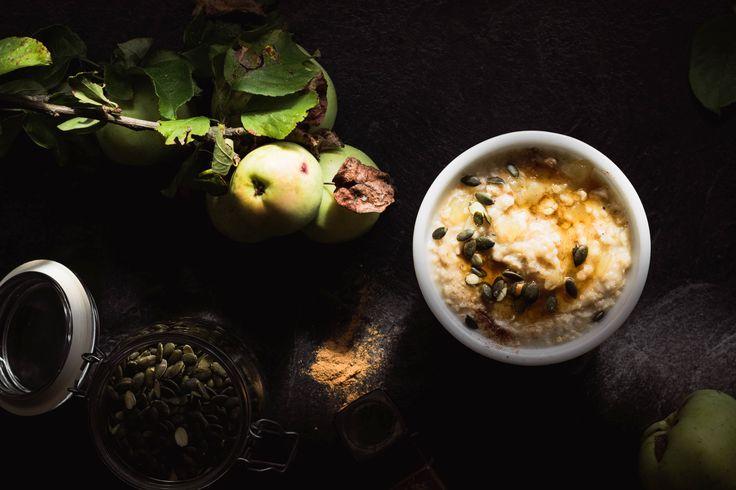 3 minute Apple pie porridge #vegan