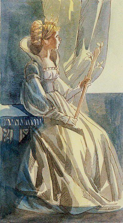Queen of Wands - Tarot of the Renaissance