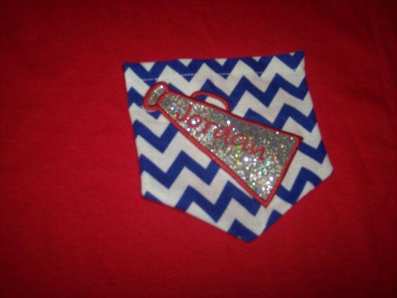 Cheerleader Chevron Pocket Shirt on Etsy, $20.00