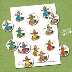 Freebie - Autumn Scarecrow Color Matching File Folder Game - From itsybitsyfun.com - D