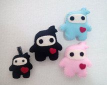 Handgemaakte sneeuwpop Ninja verliefd doll collectible sieraad charme sleutelhanger spel ecovriendelijke uit magnetische pin rugzak tas