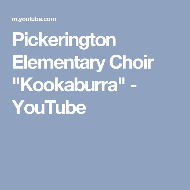 "Pickerington Elementary Choir ""Kookaburra"" - YouTube"