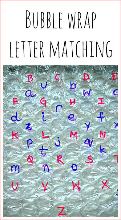 alphabet activities with bubble wrap