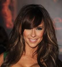 Image result for brunette highlights on black hair