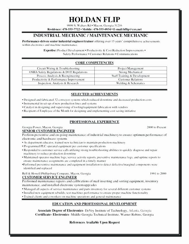 Fresh Aircraft Mechanic Resume Template Aircraft Mechanic Resume Engineering Resume Resume Objective Examples Engineering Resume Templates