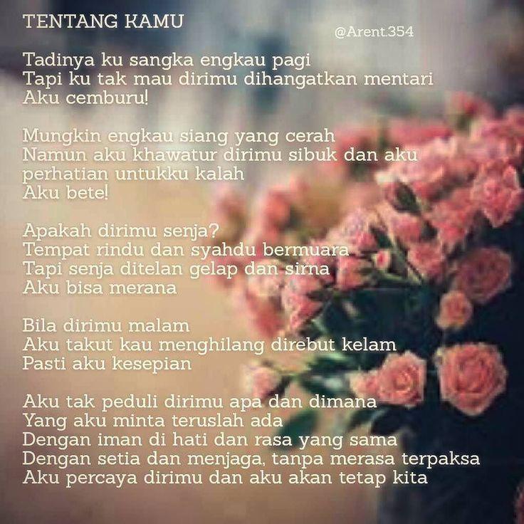Hai kamu   #puisi #puisiku #ungkapan #puisikita #puisitentangkita #kaukitaku #kamu #kita #rasahatiku #katahati #sajak #syair #sastra #katapenuhmakna #katakataindah #katakata #poems #quote #quoteslove #love #life #cinta #arent354 #romantis #katakataromantis #puisiromantis #puisilover by @arent.354 via http://ift.tt/1RAKbXL