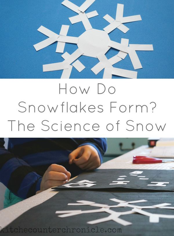 How Do Snowflakes Form? An interactive way to teach children about how snowflakes form. STEM activity for kids in winter.