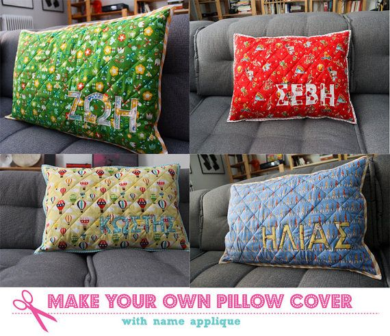 Personalized pillow cover Pillow cover with name by Zarkadia \u20ac50.00 #pillowcover #applique & 25+ unique Personalized pillows ideas on Pinterest | Transfer ... pillowsntoast.com