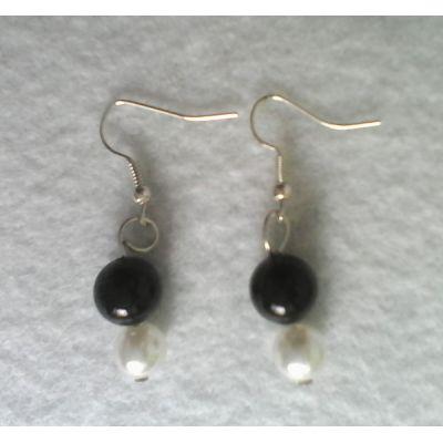 Black and #pearl #earrings