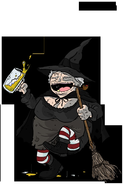 Niania Ogg - slovenly old witch