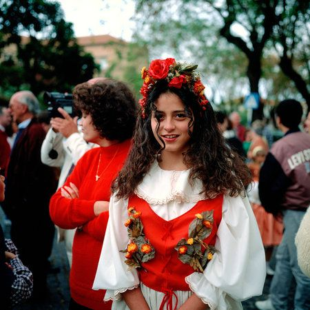 Portuguese girl in traditional dress