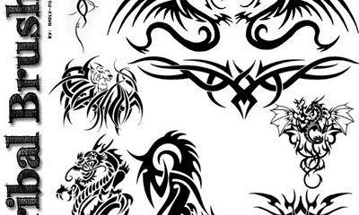 650 tatuajes tribales gratis para photoshop en forma de pinceles