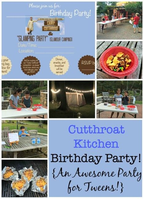 cutthroat kitchen birthday party an awesome party for tweens