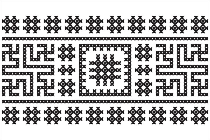 Semne Cusute: MOTIVE: vartelnita (varianta 4) -  fragment de panza cusuta, la Muzeul de Etnografie si Istorie Naturala, Chisinau, Moldova