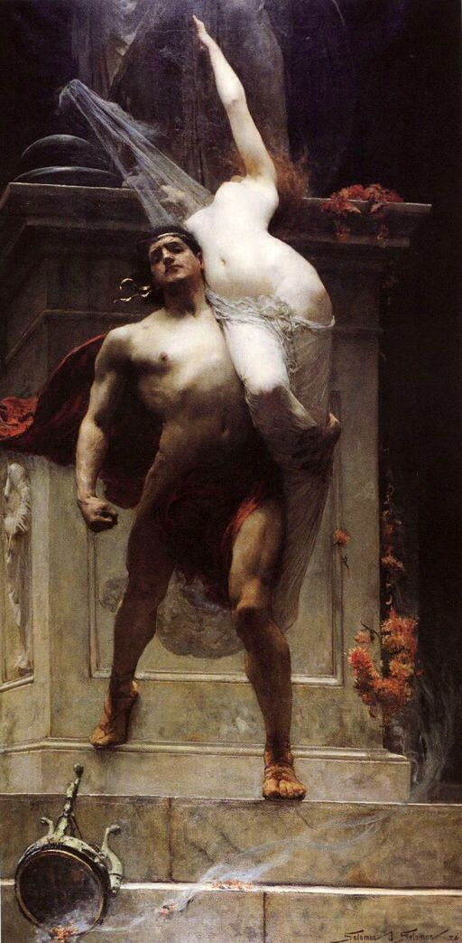 #AJAX of #Oileus brings #Cassandra artist Solomon Joseph Solomon, 1886. #Cassandra is a figure in #Greek #mythology. It is mentioned by Homer, Apollodorus and Hyginus. Helenus's sister, daughter of Hecuba and Priam King of Troy. Was a priestess in the Temple of Apollo and had the power of foresight, foresaw terrible misfortunes and was so disliked in many.