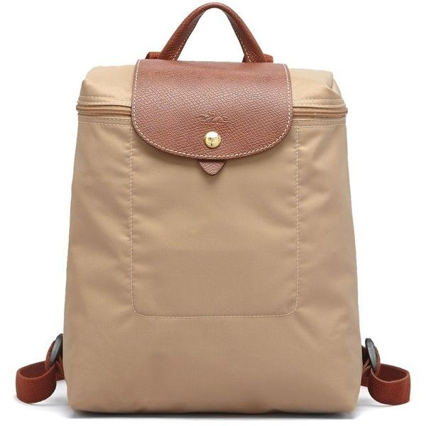 Longchamp Backpack (2,120 MXN) ❤ liked on Polyvore featuring bags, backpacks, beige, backpacks bags, beige bag, longchamp bag, longchamp and knapsack bags
