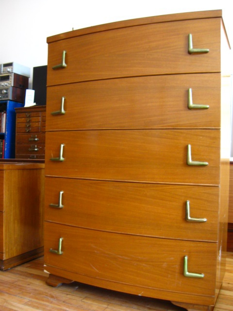 Modern Mahogany Bedroom Furniture: Vintage 1950s Bedroom Set!