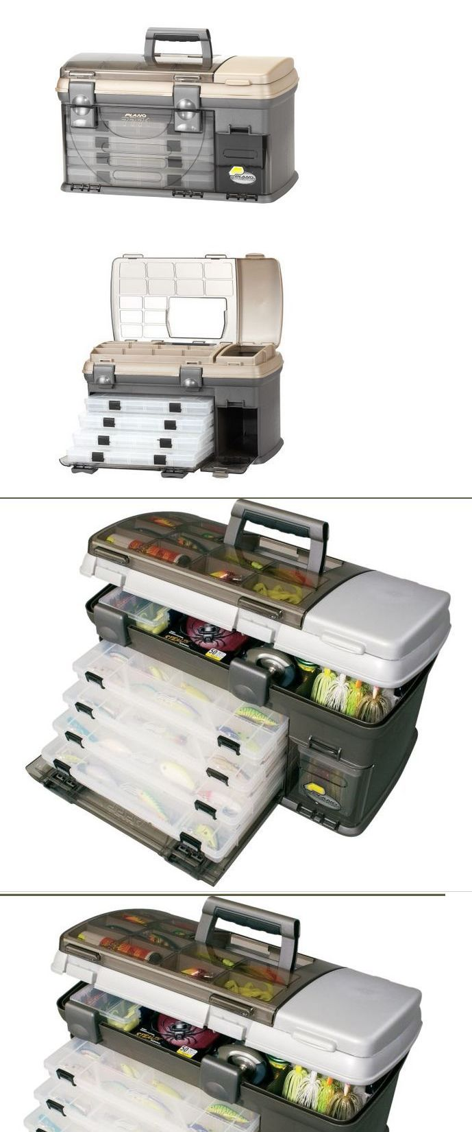 Tackle Boxes and Bags 22696: Large Hard-Sided Fishing Tackle Box W Storage Trays Dividers Tool Organizer New -> BUY IT NOW ONLY: $70.28 on eBay!