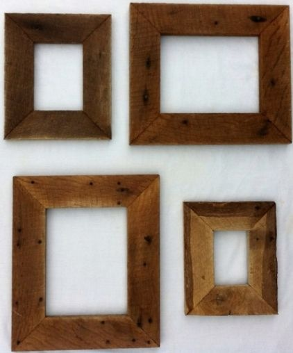 reclaimed rustic barn wood picture frame by 3 sisters country store modern frames etsy - Modern Picture Frames