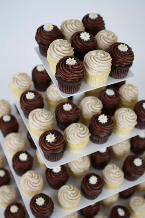 Daisy sugar toppers.