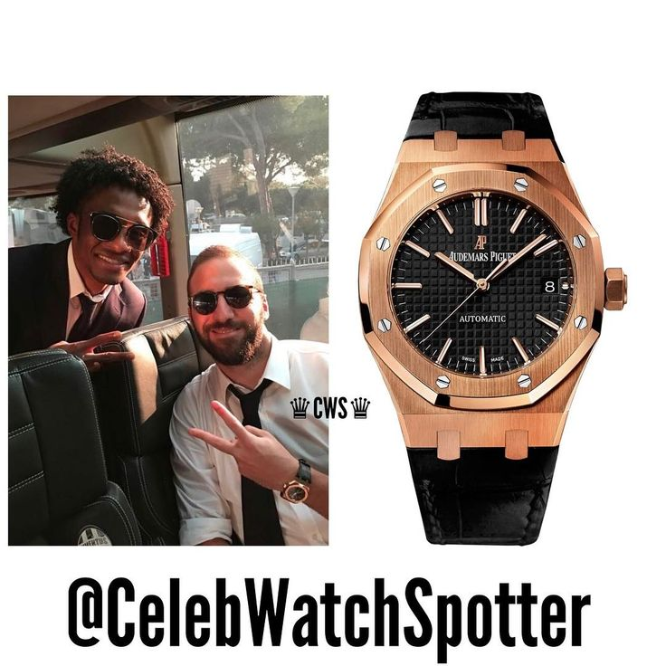 Football player for Juventus; Gonzalo Higuain was spotted wearing an Audemars Piguet Royal Oak in 18K Rose Gold. Reference-15450OR ⌚️⚽️ @ghiguain20_9 •••••••••••••••••••••••••••••••••••••••••••••••••••••• Price -UK Price List-£24,200  #CelebWatches ••••••••••••••••••••••••••••••••••••••••••••••••• #watch #watches #celebrities #celebrity #fashion #patek #rolex #richardmille #rolexgang #timepiece #instawatch #audemars #richlife #rich #wealth #money #spotter #higuain #gonzalo #Juventus…