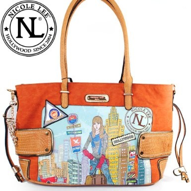 Amazon.com: Nicole Lee MIA Shoulder Bag Gitana Vintage Print Handbag Hollywood Celebrity Classic Vintage Illustrative Print Tote Satchel Shopper Handbag Purse with Adjustable Shoulder Strap: Clothing $59.99