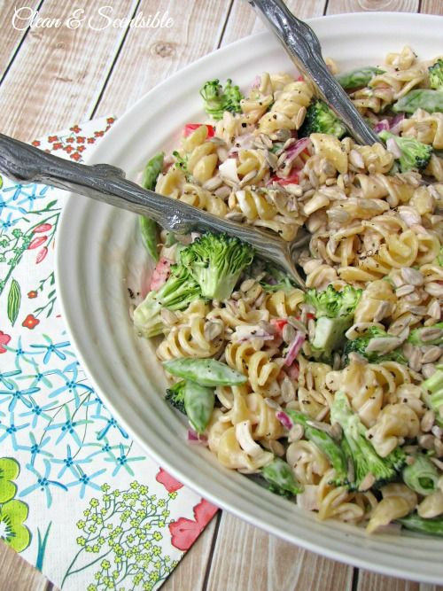 This fresh vegetable pasta salad is so easy to make and perfect for summer BBQs!  Delicious!