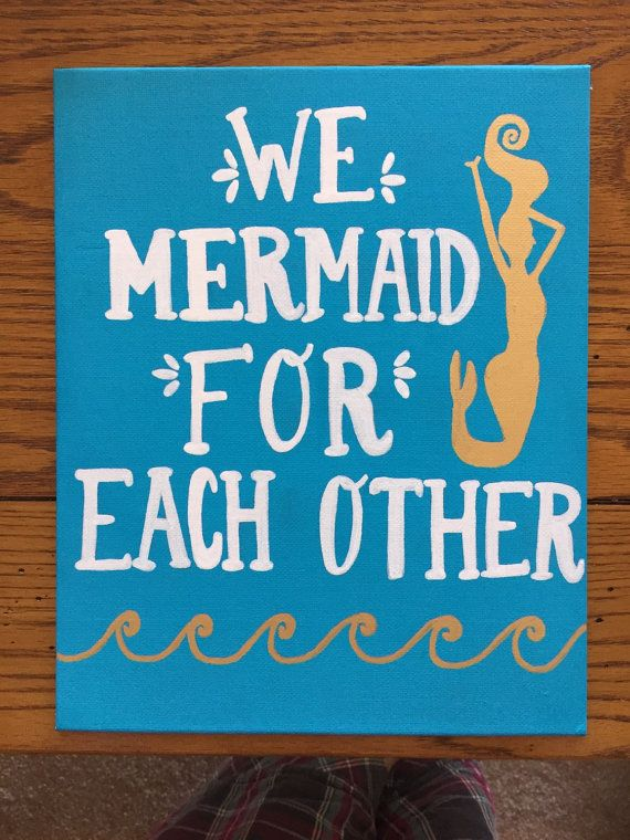 We Mermaid For Each Other Canvas by DreamBig1893 on Etsy