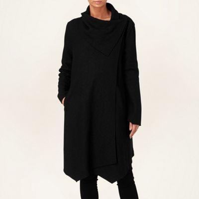 Phase Eight Black bellona waterfall coat- at Debenhams.com